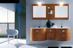 солидни  овални мебели за баня