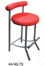 Червен бар стол