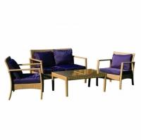 Комплект диван с фотьойли и маса за кафе
