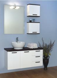 Бял шкаф за баня