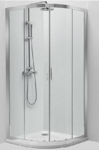Овална душ-кабина 90/90см