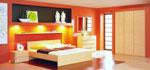 Спалня по заявка на клиента със скрито осветление Портокалово настроение